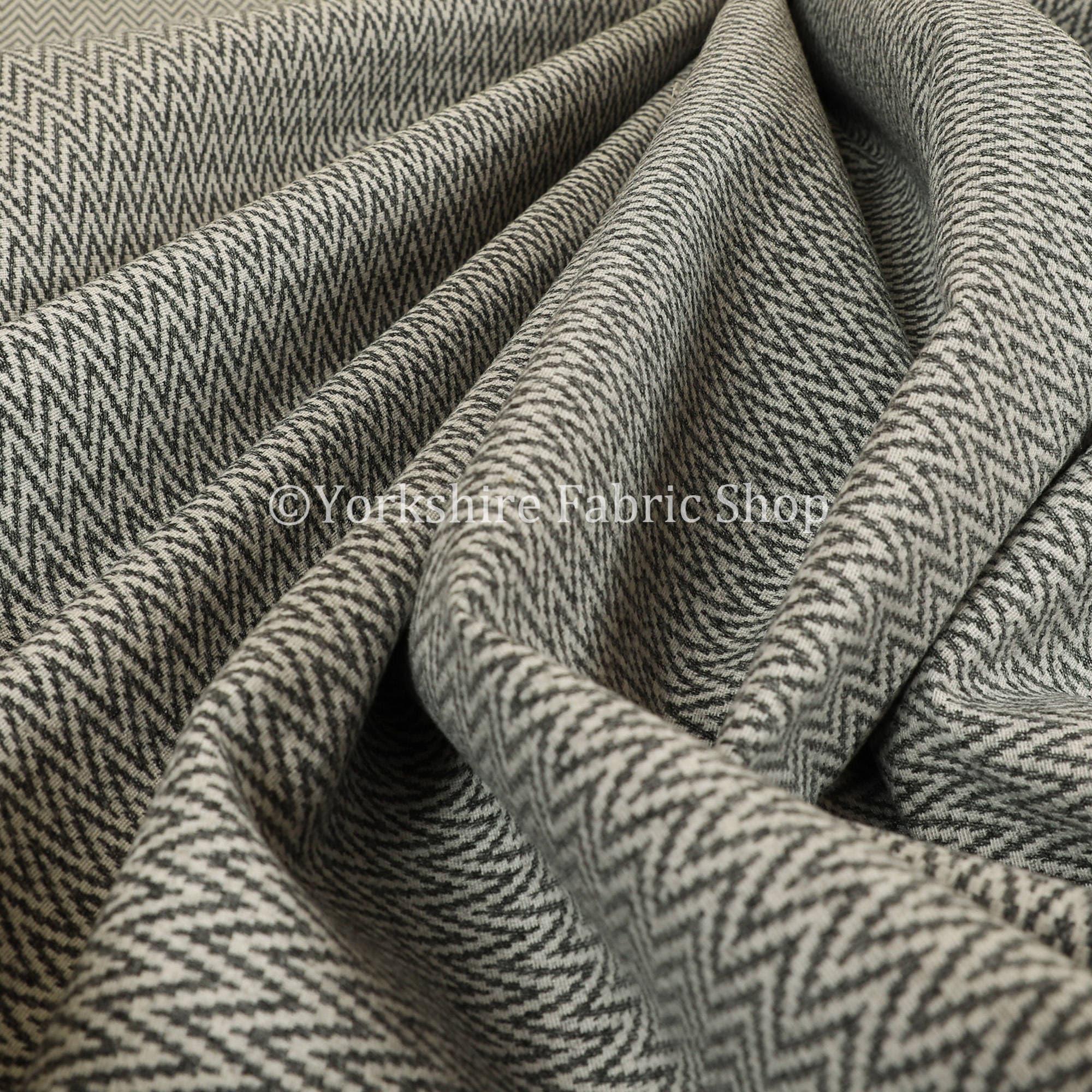 Laine Laine Laine motif chevrons géométriques modernes doux texturé tissu d'ameublement gris - vendu par le tissu de longueur de 10 mètres 07793f