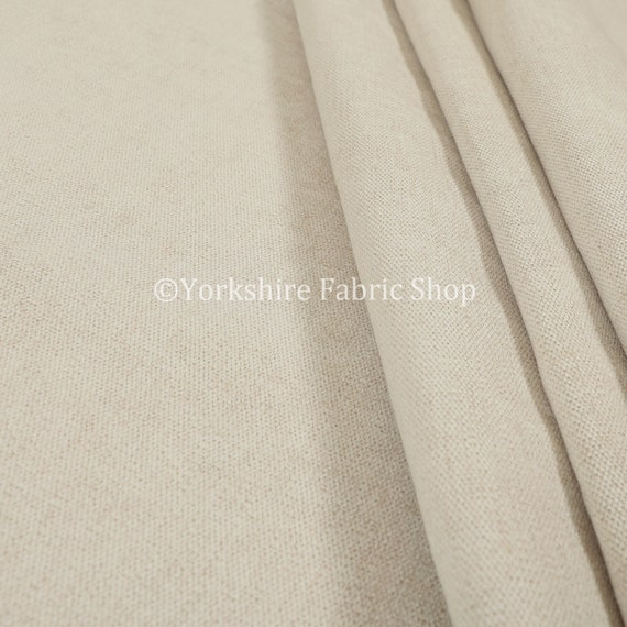New Semi Plain Durable Quality Woven Chenille Upholstery Fabric In Cream Colour