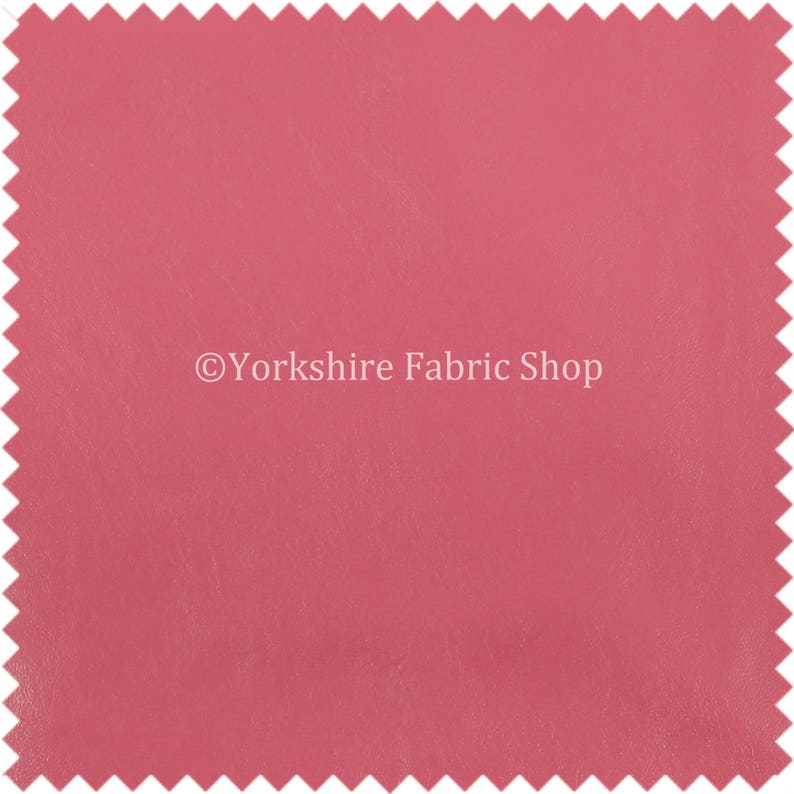 Sold By The 10 Metre Soft Sheen Vinyl Pink Faux Leather Upholstery Fabric Perfect For Furnishing