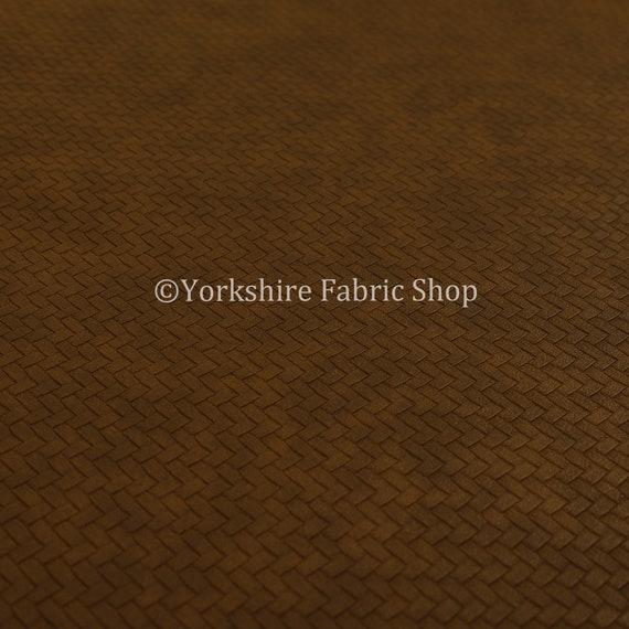 Free Worldwide Delivery Furnishing Fabric Basket Weave Semi Plain Faux Leather Vinyl Upholstery White In Brown Colour