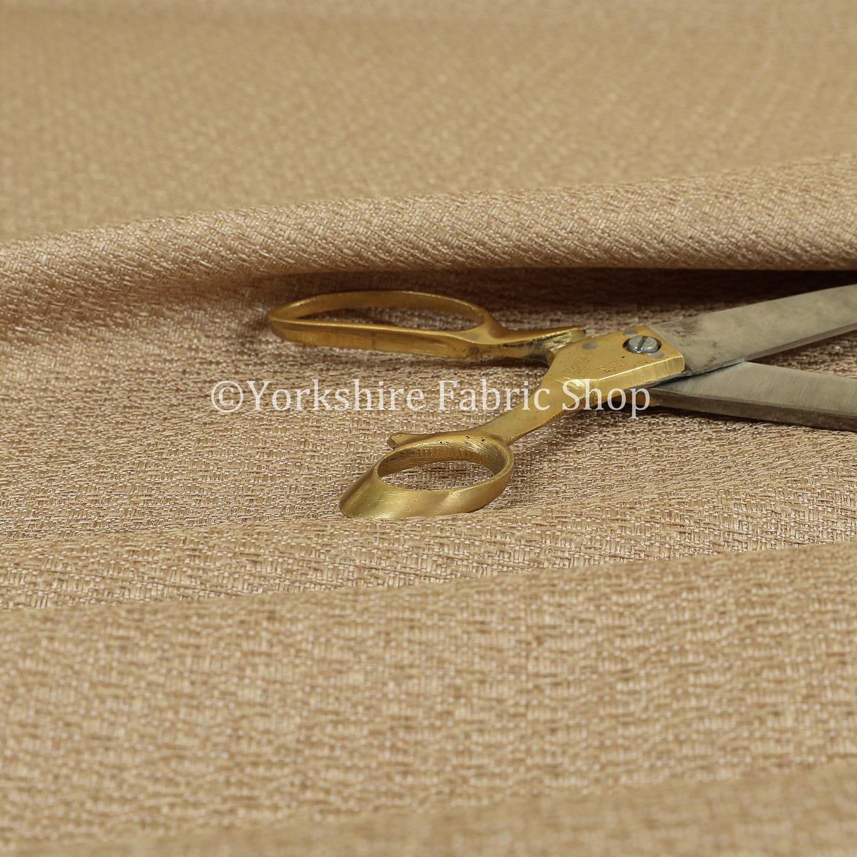 Nouvelle Nouvelle Nouvelle qualité moderne texturé Uni natté tissage or meuble tissu d'ameublement - vendu par le tissu de longueur de 10 mètres 74075a