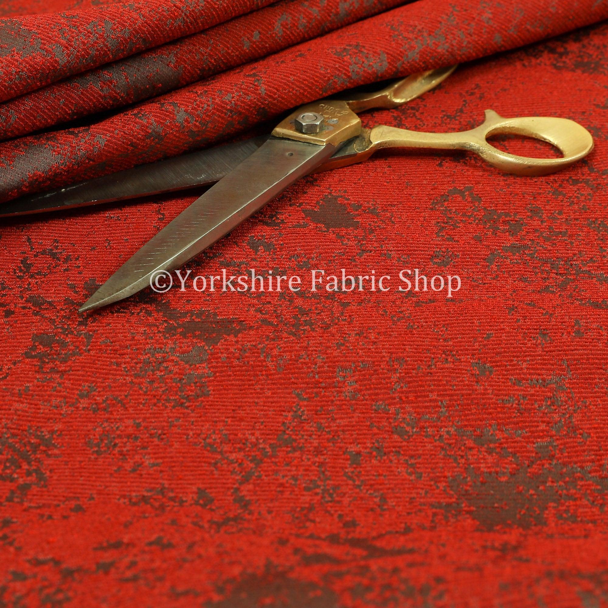 Moderne Moderne Moderne nouveau Semi Uni motif abstrait Chenille rouge Rideau tissus d'ameublement - vendus au mètre 10 f3ccc2