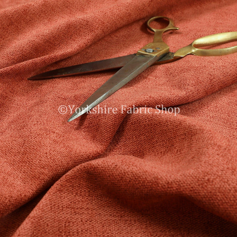 Nouvelle qualité épais Chenille douce Durable tissu couleur Orange Orange Orange d'ameublement intérieur canapés tissus - vendus par les 10 mètres 808095