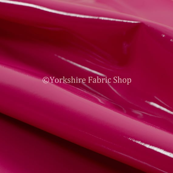 Smooth Faux Leather Gloss Finish Plain Cream Colour Vinyl Upholstery Fabric