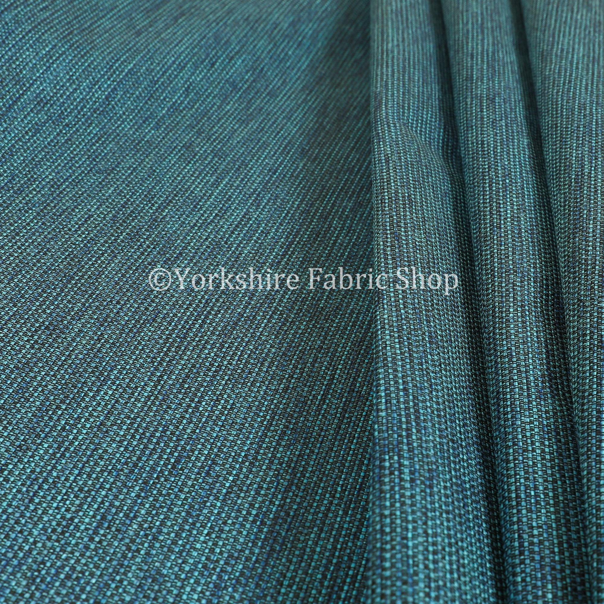 Chenille moderne plaine lisse texturé ameublement turquoise Rideau ameublement ameublement ameublement tissu - vendu par le tissu de longueur de 10 mètres 938b65