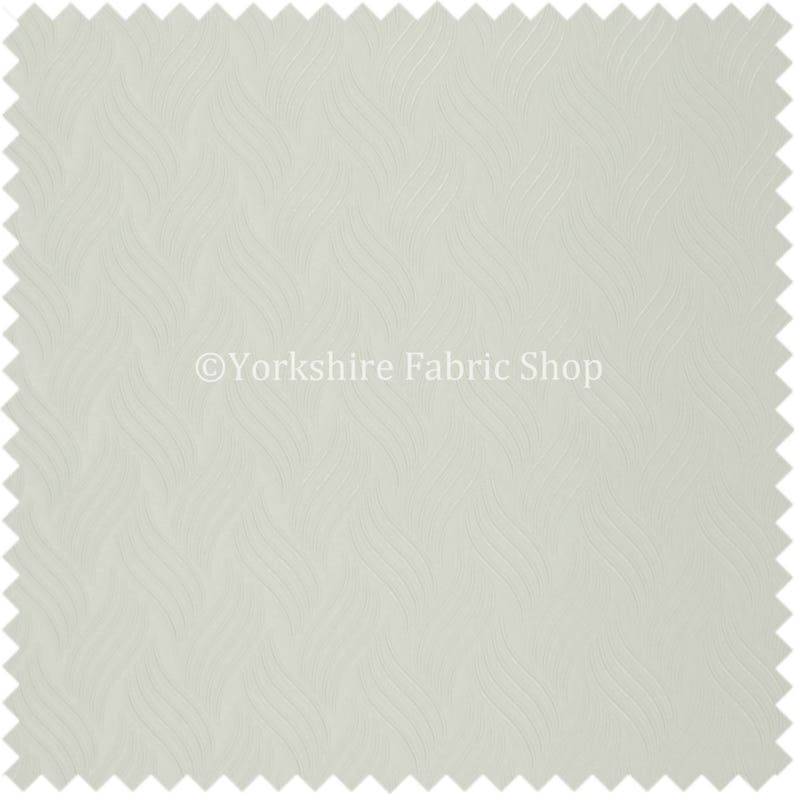 Designer Striped Glitter Vinyl Faux Leather Upholstery Fabric White Colour Sold By The 10 Metre