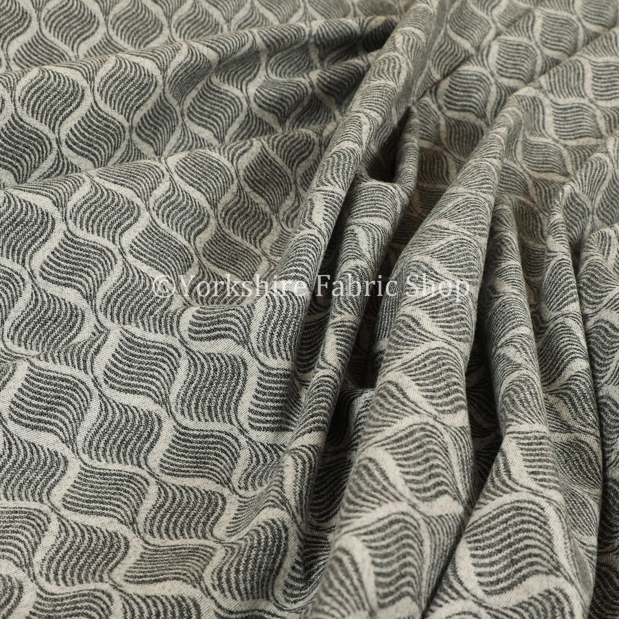 Laine motif moderne géométrique petit Motif texturé tissu d'ameublement d'ameublement d'ameublement blanc gris - vendu par le tissu de longueur de 10 mètres 8dc90b
