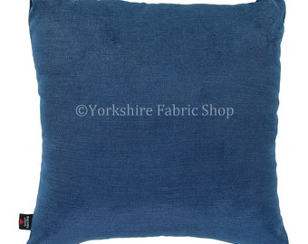 New Soft Chenille Fabric Cushion In Navy Blue Colour - 4 Sizes Available - Cushion Cover Only - British Handmade