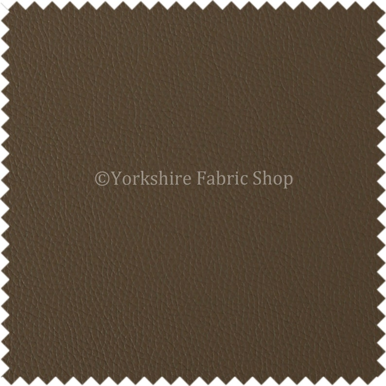 Sold By The Meter New Soft Eco Bonded Recycled Leather Leatherette Upholstery Fabric Brown Mocha Colour For Sofas Chairs Soft Furnishings