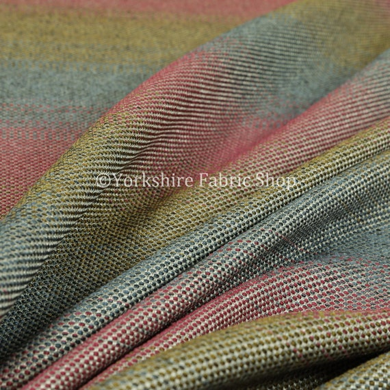 Heavyweight Chenille Metallic Multi Coloured Grey Black Green Upholstery Fabrics