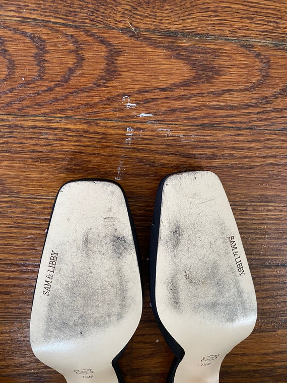 Embroidered Mules; Vintage Block Heel Mules; 1990… - image 6