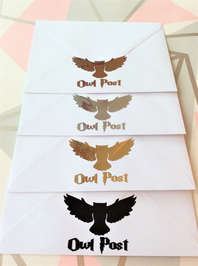 Harry Potter geïnspireerd Hedwig Owl post Quidditch bruiloft image 0