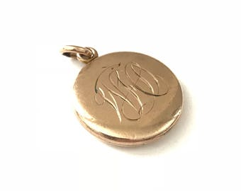 Vintage W&H Co. Monogrammed Initial Locket