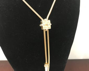 Vintage Couture Costume Bolo Slider Style Necklace - AS IS