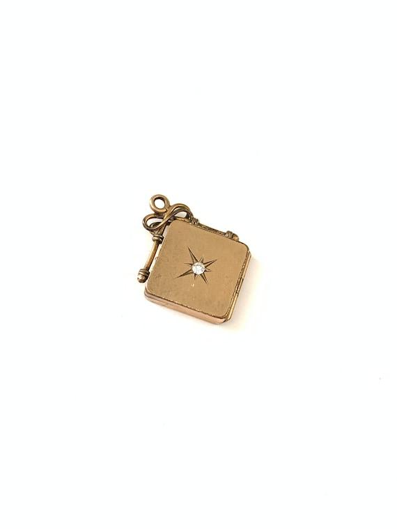 Vintage Victorian Gold Filled Star Locket // Gold