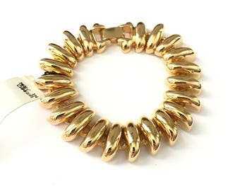 Vintage Mid Century Style Spine Articulated Chain Bracelet