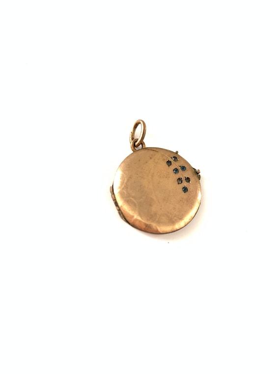 Vintage French Art Nouveau Gold Filled Paste Locke