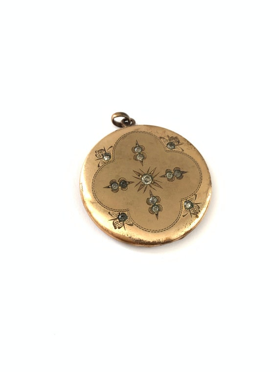 Gorgeous Antique Gold Filled Star Burst Paste Lock