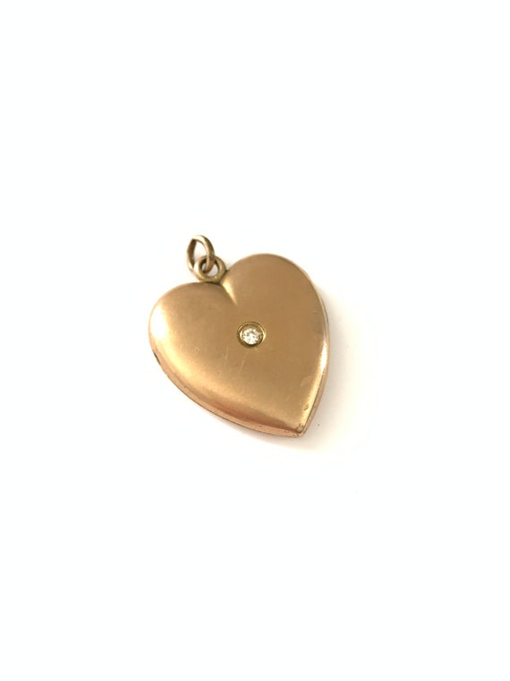 Antique Victorian W&H Co. Gold Filled Heart Locket