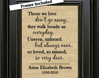 Framed personalized st wedding anniversary gift st
