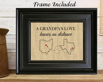 FRAMED Personalized Gift For Grandpa Birthday Fathers Day Long Distance Relationship Grandfather From Grandkids