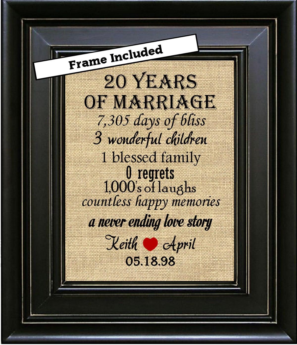 20 Wedding Anniversary Ideas: FRAMED 20th Wedding Anniversary/20th Anniversary Gifts