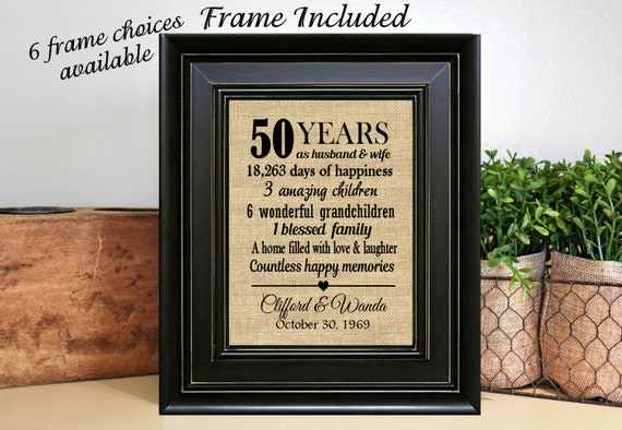 198f3083f94a FRAMED Personalized 50th Wedding Anniversary Gift 50th