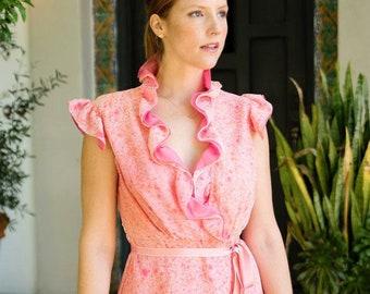 Chiffon Midi Dress, Pink Dress, Ruffle Dress, Blue Dress, Yellow Midi Dress, Silk Dress, Light Pink Dress, Blue Chiffon Dress, Made To Order