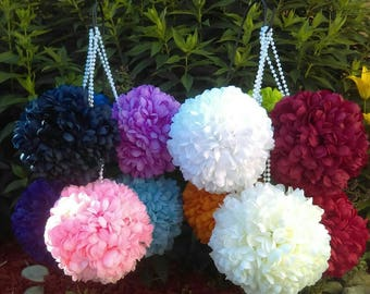 """7"""" Mum Pomander Kissing Ball *U-Pick color* Great for Pew Bows or as a Flower Girl Bouquet Wedding or Quinceanera"""
