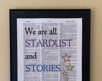 We are all stardust and stories; The Starless Sea; Gifts for readers; Literary gift