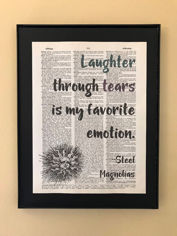 Laughter Through Tears Is My Favorite Emotion Steel Etsy