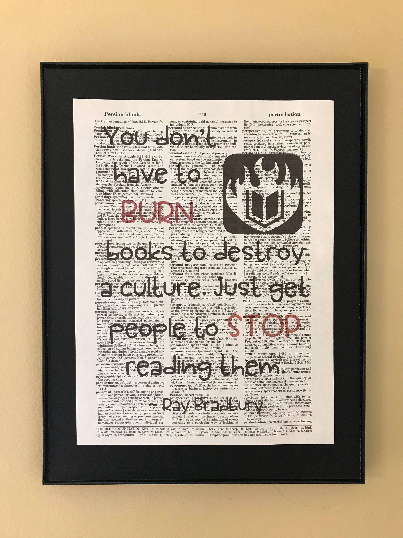 Quotes R. Bradbury about books