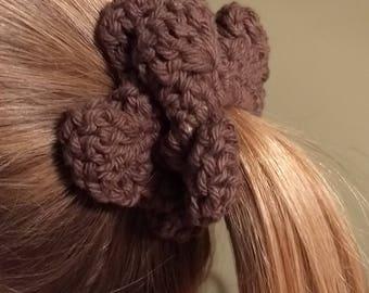Flower Scrunchie / brown