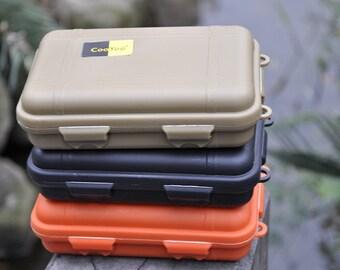 3PCS EDC tool hard plastic waterproof box case, sealed case plastic container 115 x 65 x 35 mm
