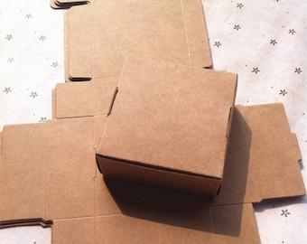 9.5*9.5*3CM Soap box of imported kraft box storage box small jewelry box candy box carton aircraft 50pcs