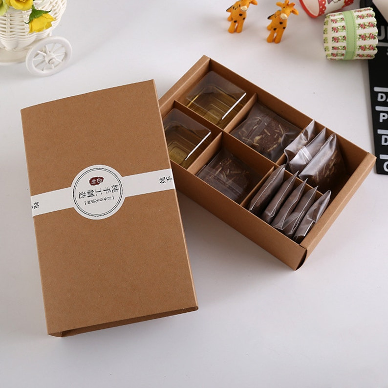 30pcslotBrown Kraft Paper Boxes Gift Craft Box Drawer Style Handmade Packaging Jewelry 20.2*12.5*5cm