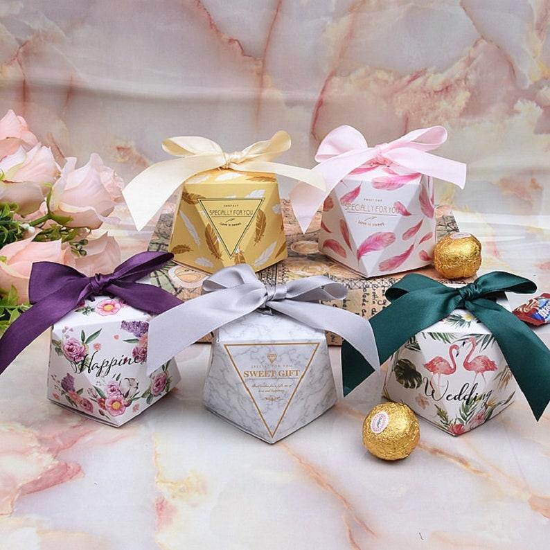 Mehrfarbige Hochzeit Zugunsten Box Und Taschen Süßes Geschenk Etsy