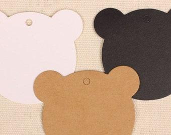 500 pcs 6 * 6 cm Little Bear kraft paper label blank paper card draw card decorative card greeting card abstract card manual pendants