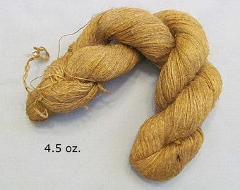 Linen Yarn Skein, Home Spun, Singles, Natural Color, 4.5 Ounces