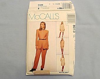 Sewing Pattern, Classic Jacket, Dress, Pants and Skirt, McCall's #8013, Uncut, Size 14-16-18, 1995
