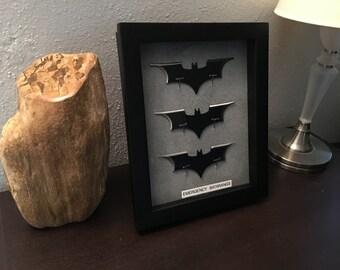 Batman Emergency Batarangs Wallmount Display - 3 Batarangs Dark Knight style batarang