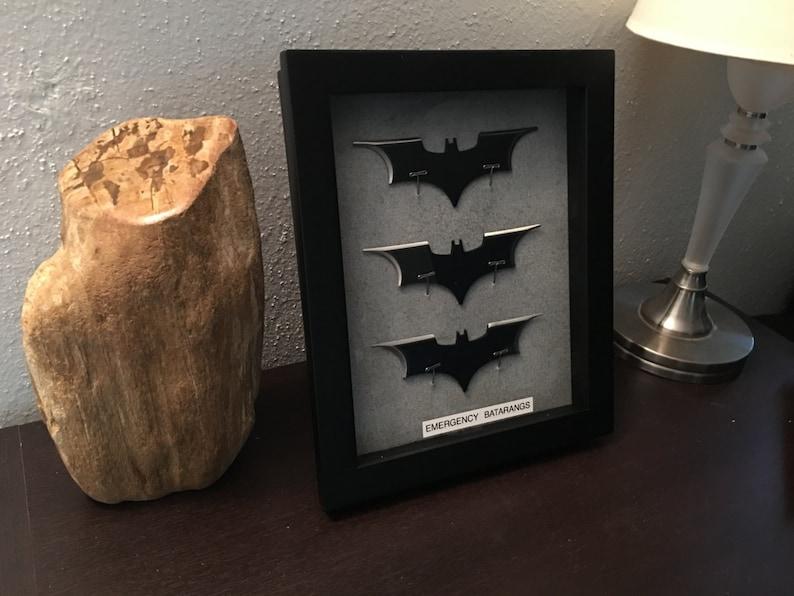 Batman Emergency Batarangs Wallmount Display  3 Batarangs image 0