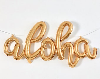 Aloha Beaches Letter Balloons,Aloha Beaches Rose Gold Balloons,Aloha Beaches Rose Gold,Aloha Balloons,Luau Bridal Shower,Luau Bachelorette