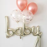 Rose Gold Balloons Baby Balloon Rose Gold Balloon Baby Shower Gender Reveal Decor Rose Gold Pregnancy Announcement Balloons Baby Balloons
