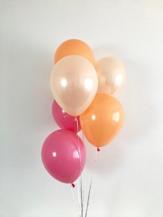 e1a1d8693e96 Pink Peach Orange Latex Balloons Little Pumpkin Party Little