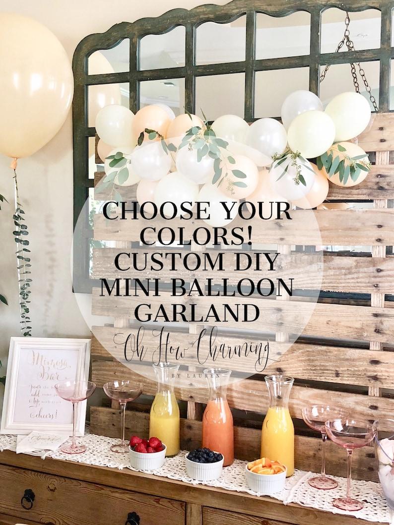 Custom Mini Balloon Garland DIY Balloon Garland Kit Bridal image 0