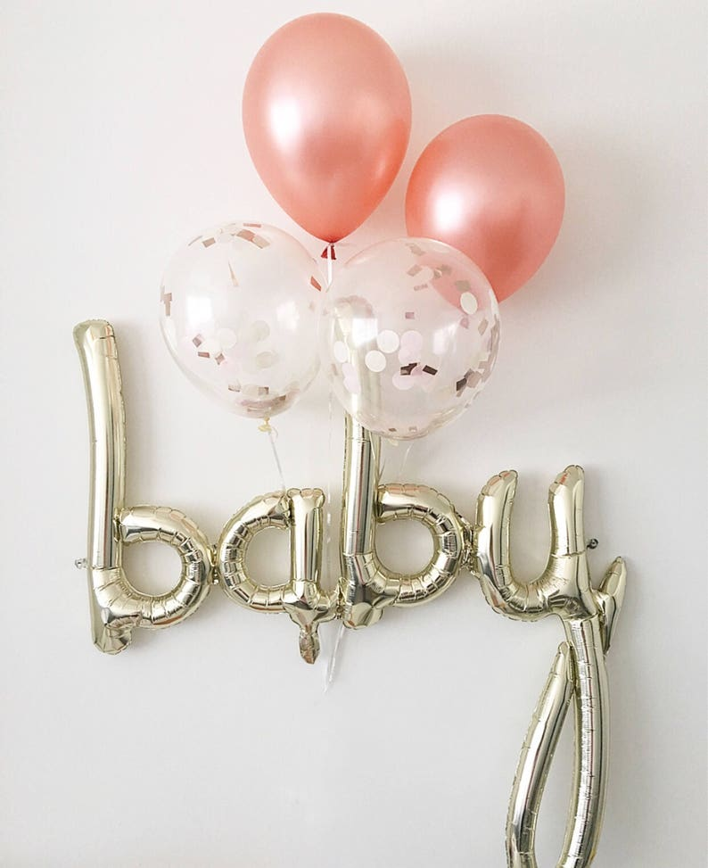 Rose Gold Balloons Baby Balloon Rose Gold Balloon Baby Shower image 0