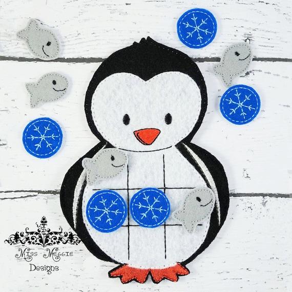 Invierno Ártico pingüino TTT Tic Tac Toe conjunto de archivos | Etsy