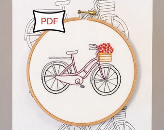 Bicycle Basket • Embroidery Pattern • PDF Download