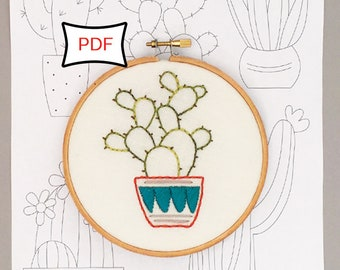 Cactus Embroidery Patterns • PDF Download